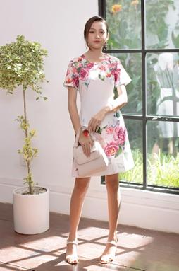 Florence Rosé Dress - Trắng