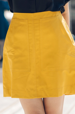 Chân váy túi đắp - Vàng đồng