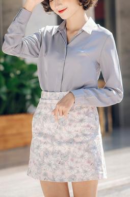 Chân váy túi vát hoa Ver 2 - Hồng trắng
