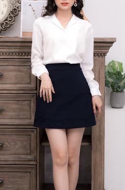 Chân váy túi vát - Xanh Đen