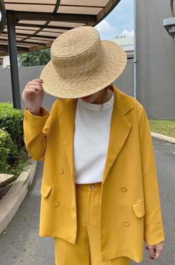 Elegent Long Blazer - Vàng